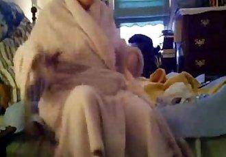 Caught my busty mom fully nude in bedroom. Hidden cam - 2 min