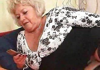 Big-breasted furry vagina grandma - 6 min