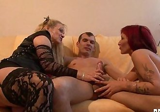 Young couple fucking for a horny german milfHD