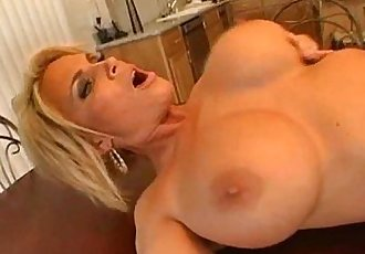 Mom Fucked on the Table! - 3 min