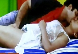 Indian older womans boobs get licked with honey by young guy - 8 min