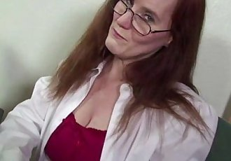 Horny red mature slut getting fucked by a hard black cock - 6 min
