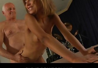Tiffany nags the Oldman to fuck