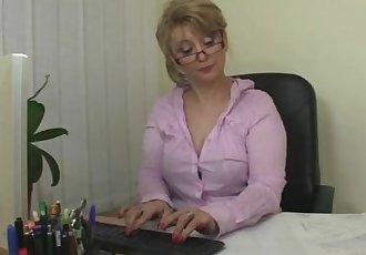 Naughty office bitch fucks employee