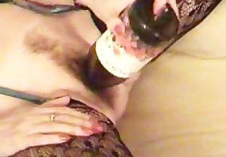 Mature Broad Fucking Wine Bottle