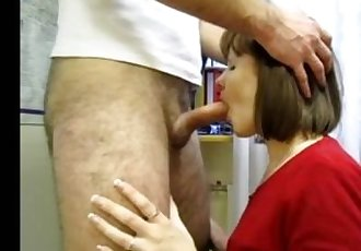 Russian Mature Woman Sucks Dick