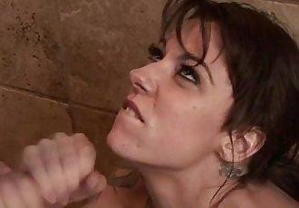 Masseuse babe blowjob and cumshot facial - 5 min