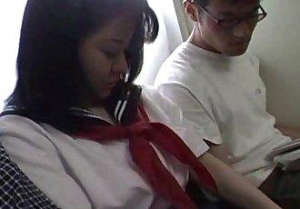 日本 青少年 在 学校 均匀 已 三人行 未经审查 - 7 min