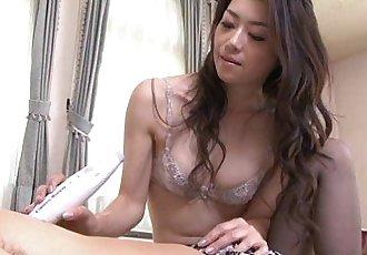日本 性感的 小姐 需要 一个 年轻的 迪克 - 14 min