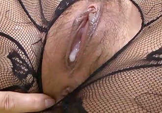 Hatsuka Kobayashi Fucked In Black Bodystocking - 2 min HD