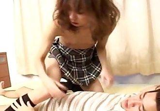 亞洲 瘦 學校 貝貝 游樂設施 的 脂肪 迪克 - 8 min