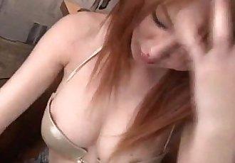驚人的 手淫 顯示 與 曲線優美的 屁股 Rei - 12 min