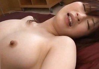 Riko gets one big fuck in shaved crack - 10 min