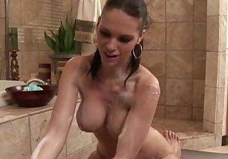性感的 貝貝 肥皂 按摩 吹簫 射液 臉部 - 5 min