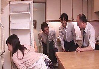 Chihiro Kitagawa Handles Many Dicks Without Fucking Them - 8 min