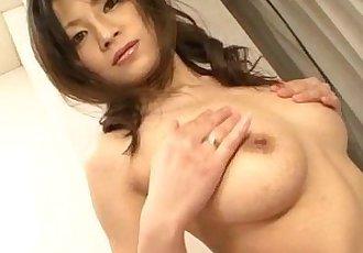 Sensual pussy solo along busty?Ryo Sasaki - 12 min