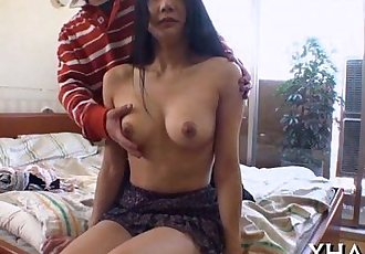 Japanese?slut fucks with marital-device - 5 min