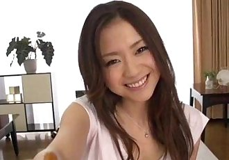 Busty beauty Mayuka Akimoto superb POV porn show - 12 min