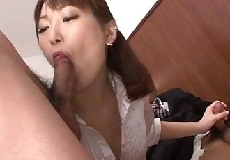 Nonoka Kaede Asian milf deals two younger cocks - 12 min