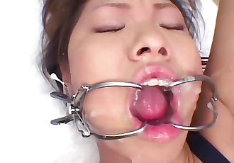 Japanese Teen in fucked and Cum Covered
