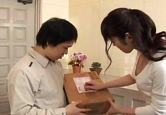 Haruna Ayase gets dildo and licked shlong - 10 min