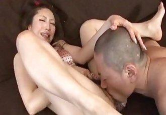 Koyuki Hara hot Asian milf is pussy licked before giving deepthroat blowjob - 10 min