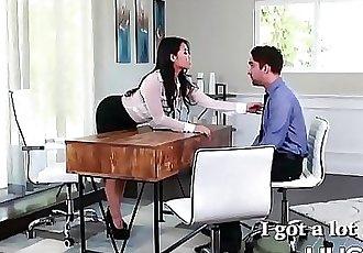 Boss Asian Cindy Starfall eating cum after fucking 8 min