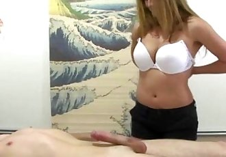 Real asian masseuse jerks and blows dude - 10 min