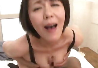 Japanese MILF Creampie in Stockings Lingerie