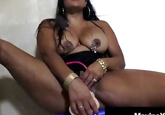 Asian Milf Maxine X Squirts Pussy Juice While Masturbating!