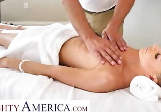Naughty America Emma Hix Gets a Massage and Cock