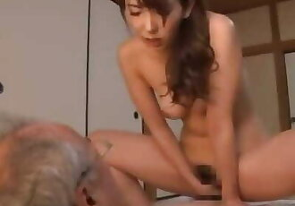 Asian MILFs vs old Men 8