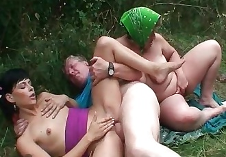 Beautiful babe fucked by old dude