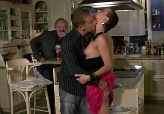 Old hubby needs help to bang his young wife