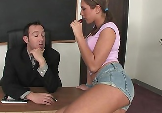 Bad Girl Teen Fucks Her Teacher In The Classroom