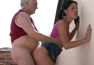 Horny father fucks his son\