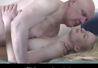 Lucky old perv doing hard a tall skinny blonde