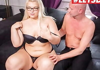LETSDOEIT - Chubby German Teen Gets Filmed Fucking Her Sugar Daddy