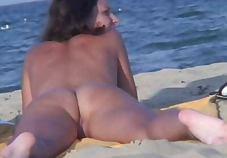 Nudist Couple Beach Voyeur Video HD