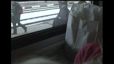 21yr old Sucking Dick on the Train - 40 sec