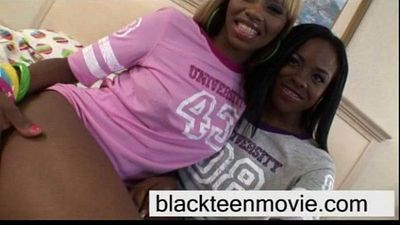Ebony teen threesome fuck - 4 min
