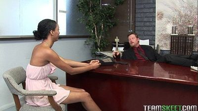 choclate skinned Isabella Pena gets rammed by the principal - 5 min HD