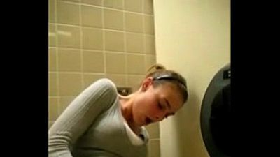 she masturbating in public toliet - 59 sec