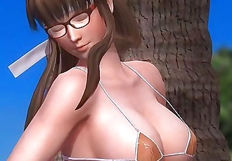 Dead or Alive 5 1.09BH - Hitomi Relax by a Tree on a Beach w/ Sexy Outfits