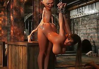 Savage Monster 3D Sex - Perils Of Lara Croft: Part 5