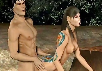 3D Animation: Ninja Scroll 2 - 58 sec