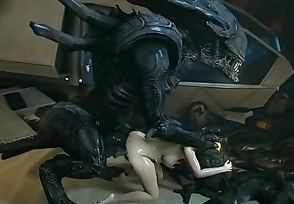 3D Hardcore Animation Aliens fucking Samus Aran Deep and Hard