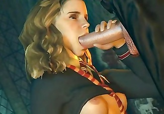 Deep blowjob in castle, hot porn game