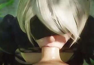 3D Hentai Nier Automata - 2B Blowjob