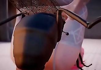 3D Lilia Insect Fuck Toilet Part 2 / 2 2 min